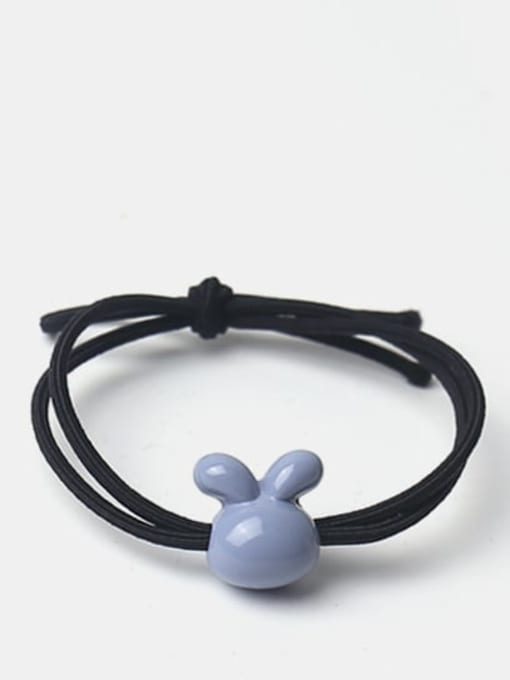 Blue gray smooth rabbit Cute Icon Hair Rope