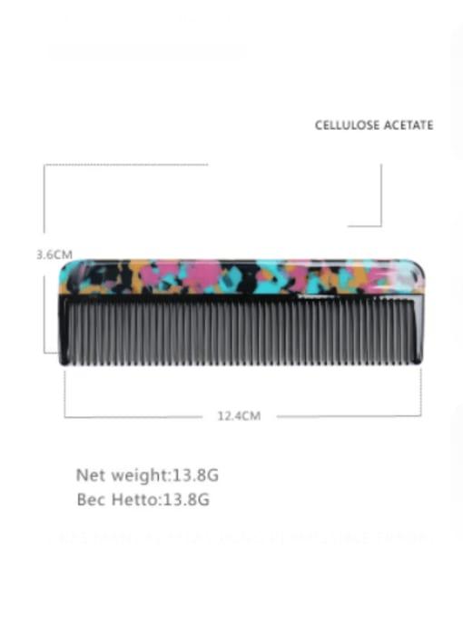 BUENA Cellulose Acetate Minimalist Multi Color Hair Comb 2