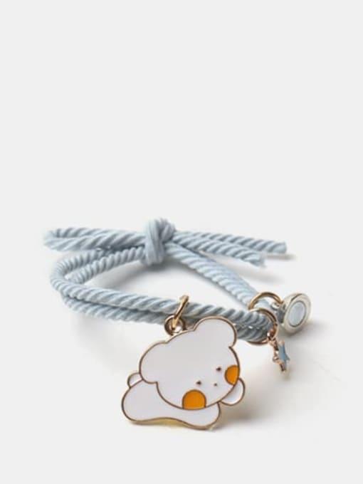 JoChic Alloy Enamel Cute Rabbit  Multi Color Hair Rope 2