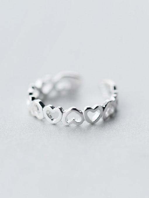 Rosh 925 Sterling Silver Silver Heart Dainty Ring