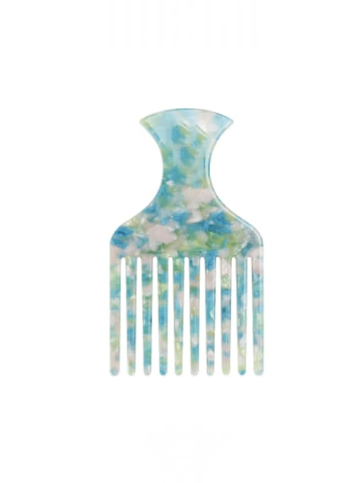 Early spring green Cellulose Acetate Minimalist Multi Color Hair Comb