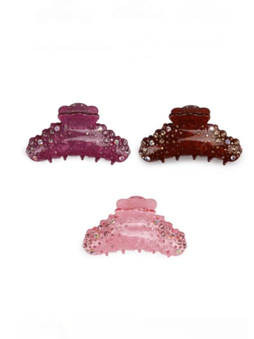 BUENA Alloy Rhinestone Acrylic Minimalist Irregular Jaw Hair Claw 0
