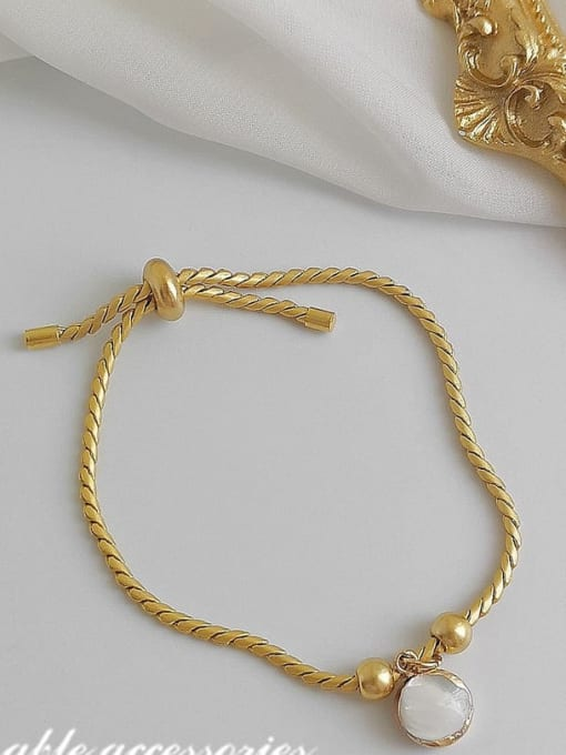 HYACINTH Alloy Shell Gold Geometric Trend Adjustable Bracelet 3