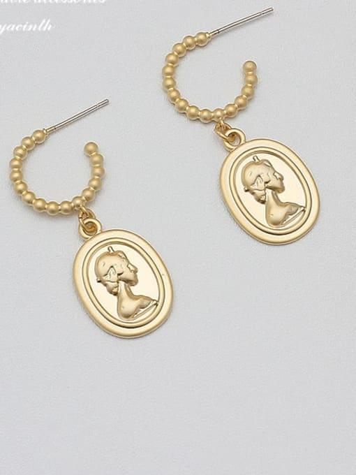 HYACINTH Alloy Gold Geometric Minimalist Drop Earring 0