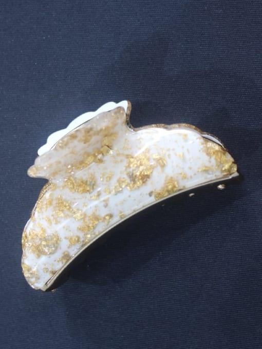 white Acrylic Minimalist Geometric Alloy Rhinestone Jaw Hair Claw