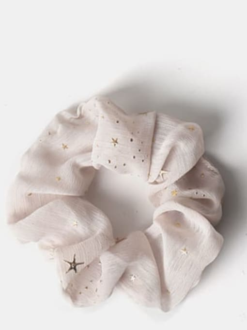 khaki. Fabric Minimalist Star Hair Barrette