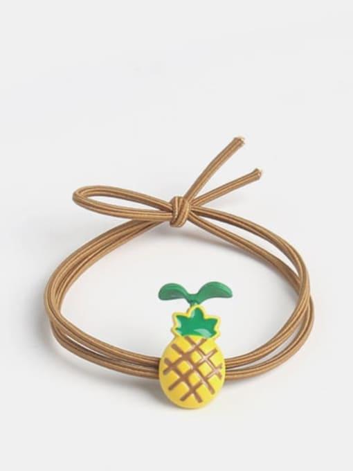 Long grass pineapple Alloy Enamel Cute Long grass Cartoon Bear Multi Color Hair Rope
