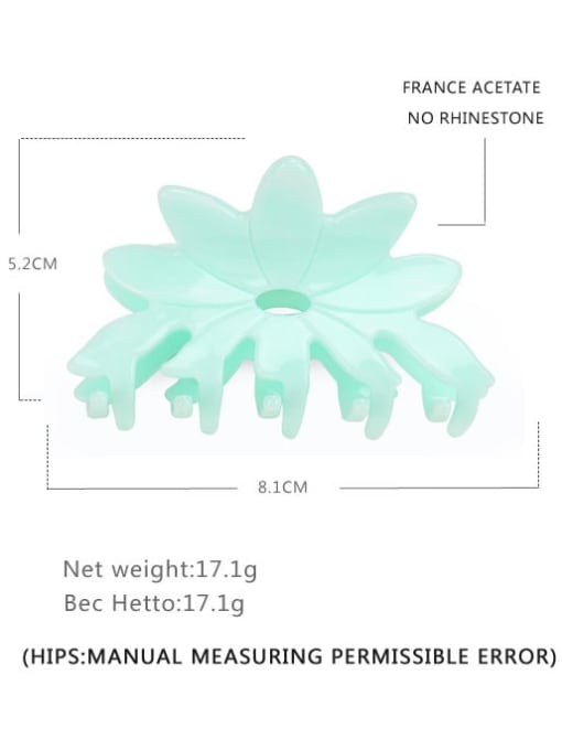 BUENA Cellulose Acetate Minimalist Flower Multi Color Jaw Hair Claw 3