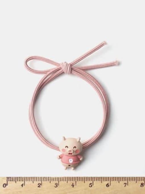 JoChic Alloy Enamel Cute  Multi Color Hair Rope 1