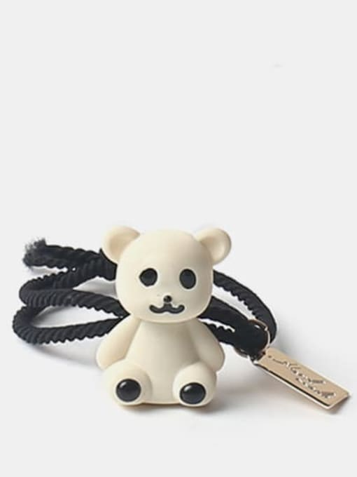 White 1 Cute Multicolor puppet bear Hair Rope