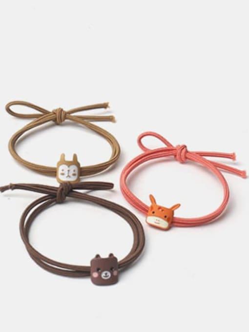 JoChic Alloy Enamel Cute Cat  Multi Color Hair Rope 0