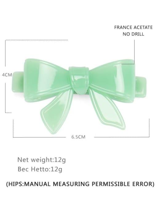 Light green Small Cellulose Acetate Minimalist Bowknot Hair Barrette