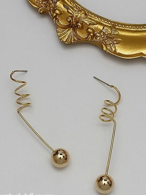 HYACINTH Copper Alloy Gold Geometric Minimalist Earring 3