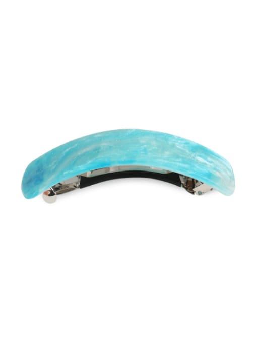 Ocean blue Alloy Acrylic Minimalist Geometric  Multi Color Hair Barrette