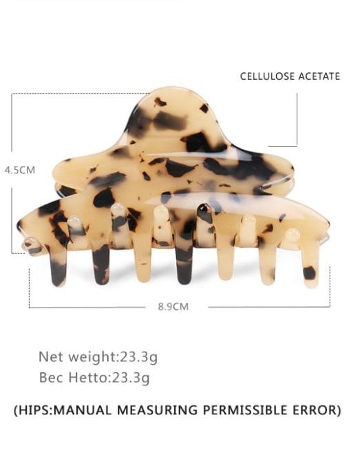 Shallow hawksbill Cellulose Acetate Minimalist Geometric Jaw Hair Claw