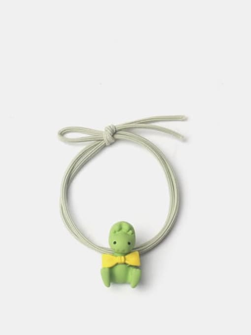 JoChic Alloy Enamel Cute Rabbit With Radish  Multi Color Hair Rope 2
