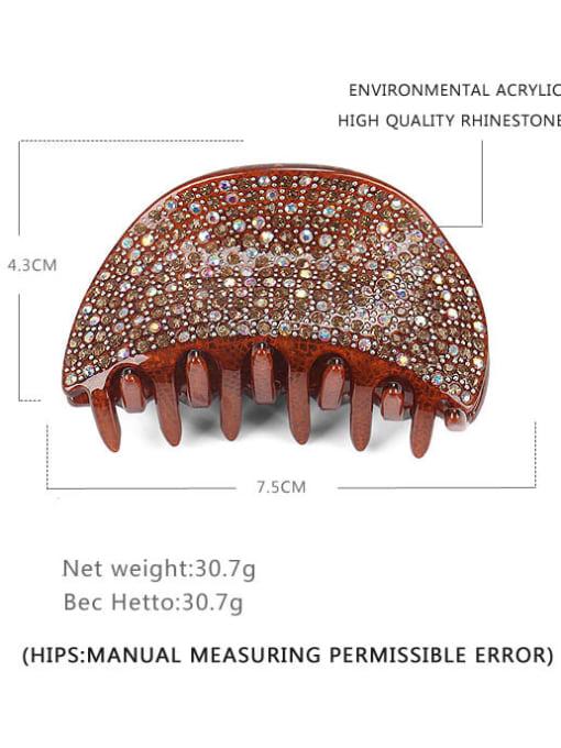 BUENA Acrylic Minimalist Irregular Rhinestone Multi Color Jaw Hair Claw 2