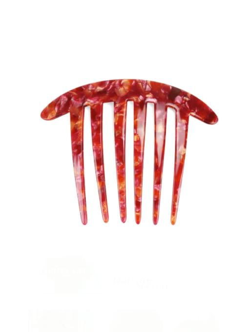 Marble red Cellulose Acetate Minimalist Geometric Multi Color Hair Comb