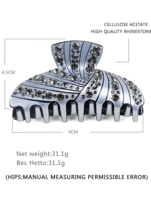 BUENA Cellulose Acetate Minimalist Geometric Rhinestone Jaw Hair Claw 3