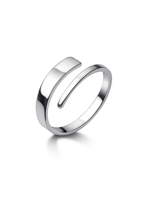Rosh 925 Sterling Silver Silver Round Trend Stackable Ring 4
