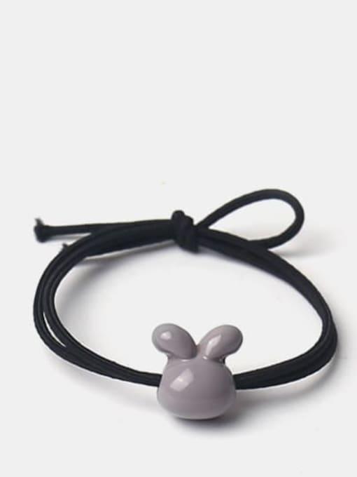 Grey smooth rabbit Cute Icon Hair Rope