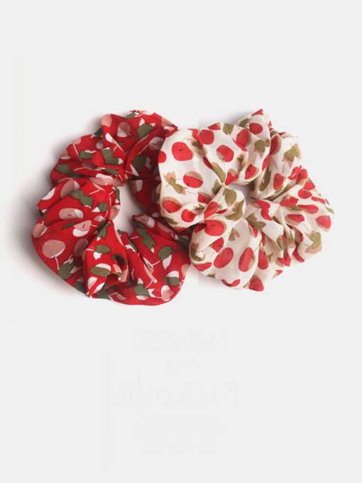 JoChic Fabric Minimalist Friut Cherry  Hair Barrette 0
