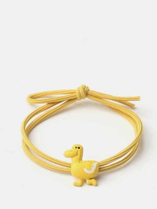 Yellow duckling Cute Light Pink Rabbit Yellow Duckling Pink Pig Hair Rope