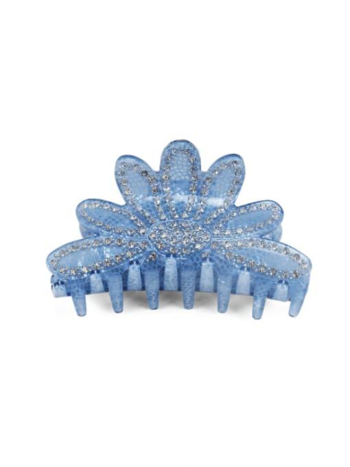 blue Acrylic Minimalist Crown Alloy Rhinestone Multi Color Jaw Hair Claw