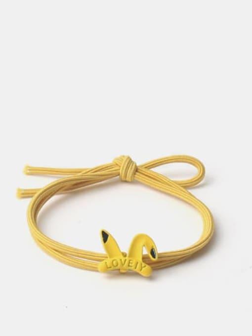 Pikachu Alloy Enamel Cute Icon  Multi Color Hair Rope