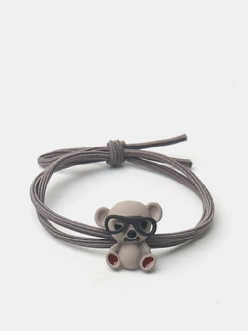 Grey koala with glasses Alloy Cute Pink Koala With Glasses Hair Rope