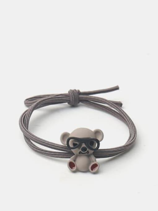 JoChic Alloy Cute Pink Koala With Glasses Hair Rope 2