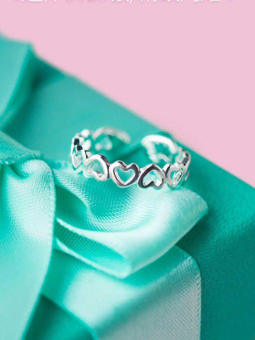 Rosh 925 Sterling Silver Silver Heart Dainty Ring 2