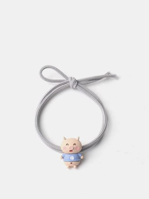 Blue pig Alloy Enamel Cute  Multi Color Hair Rope