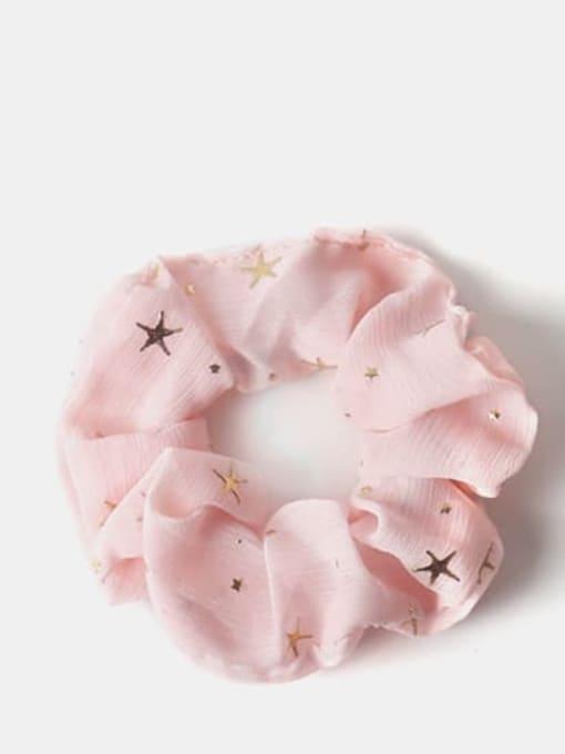 Pink Fabric Minimalist Star Hair Barrette