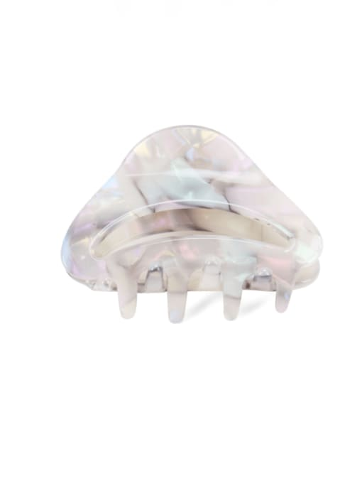 BUENA Cellulose Acetate Minimalist Geometric Multi Color Jaw Hair Claw 2
