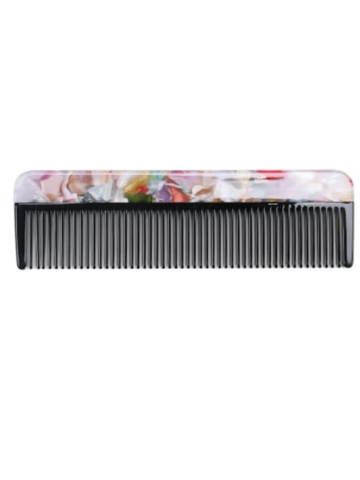 Broken Decor Cellulose Acetate Minimalist Multi Color Hair Comb