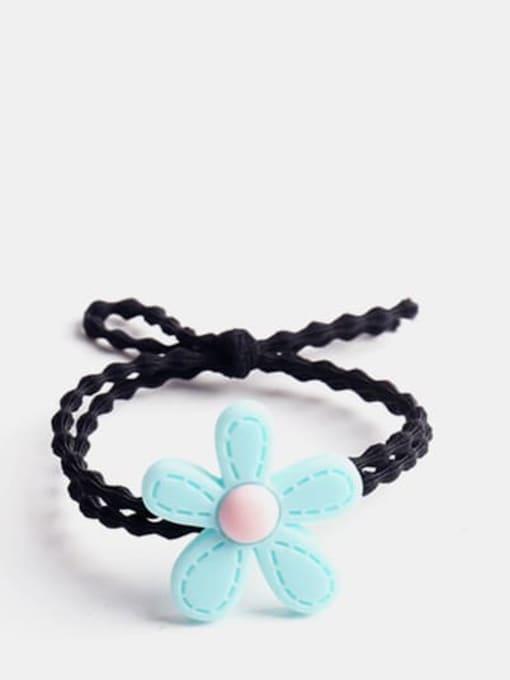 Turquoise Enamel Cute Flower Resin Multi Color Hair Barrette