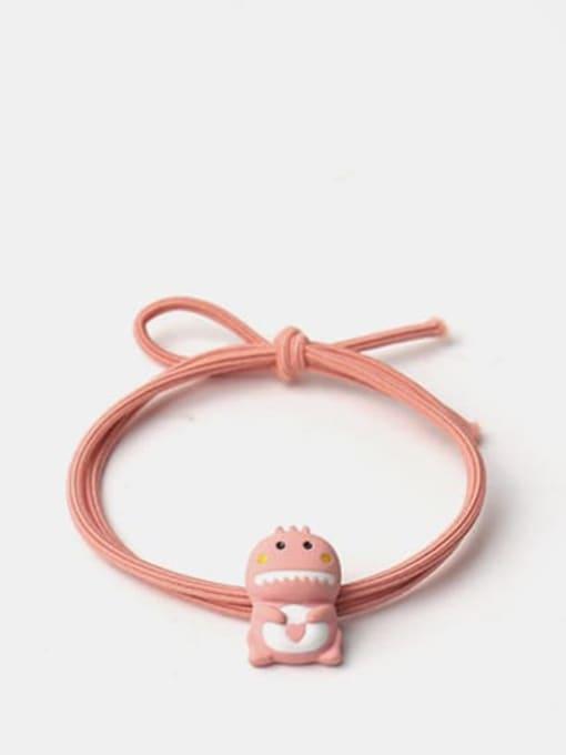 Leather Pink 1 Cartoon animal Hair Rope