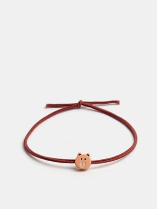 JoChic Alloy Cute Bear  Multi Color Hair Rope 0