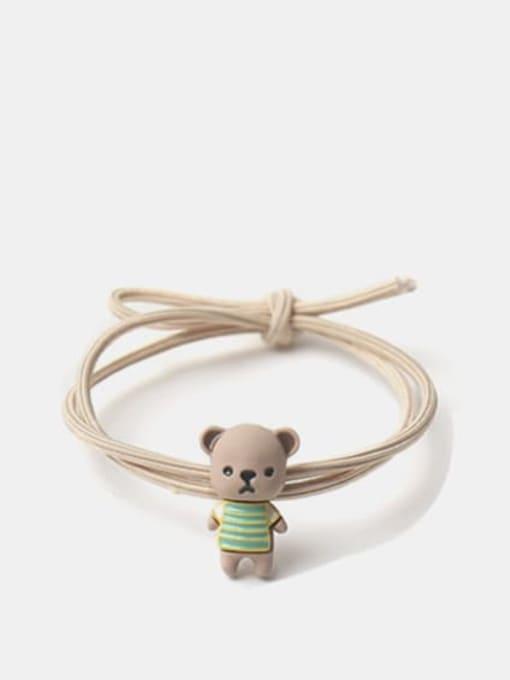 JoChic Alloy Enamel Cute Bear  Multi Color Hair Rope
