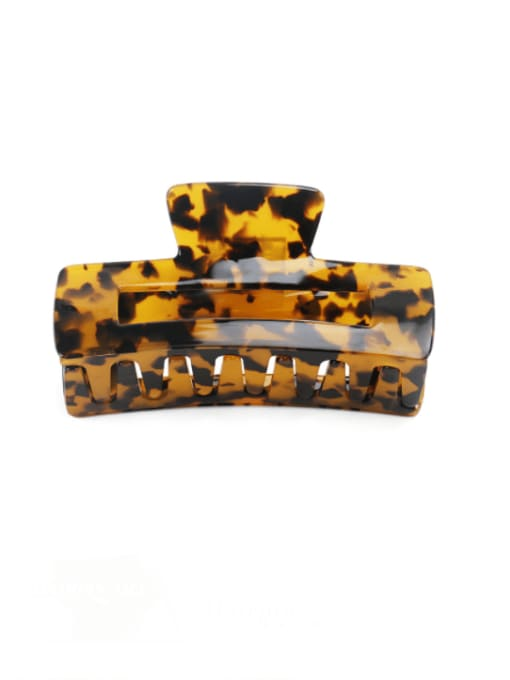 BUENA Cellulose Acetate Vintage Geometric Jaw Hair Claw 1