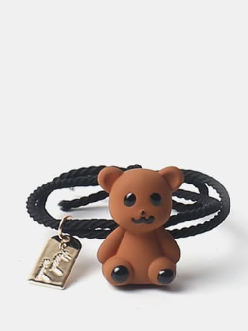 Brown 1 Cute Multicolor puppet bear Hair Rope