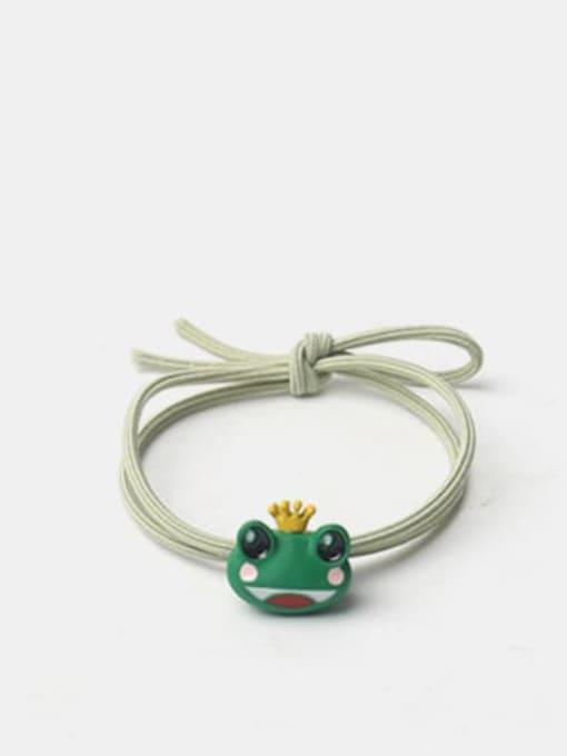 Green Frog Prince hair rope Alloy Enamel Cute Frog  Multi Color Hair Rope