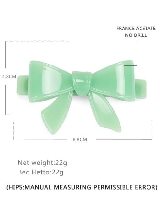 Light green big Cellulose Acetate Minimalist Bowknot Hair Barrette