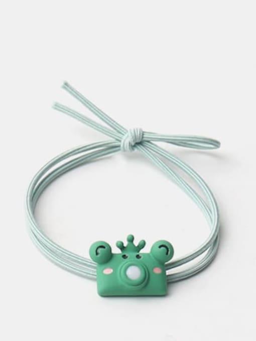 Green Frog Prince bubble machine Cute cartoon animal hair rope