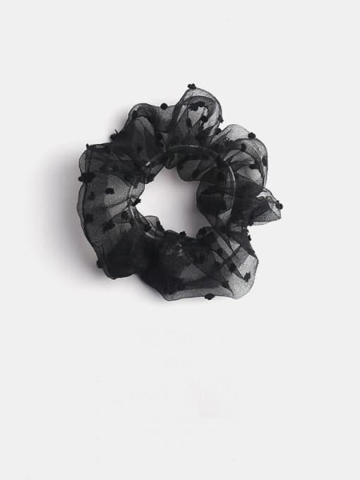 black Yarn Minimalist Hair Barrette