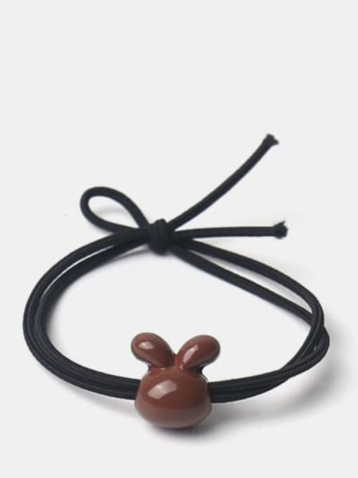 Brown smooth rabbit Cute Icon Hair Rope