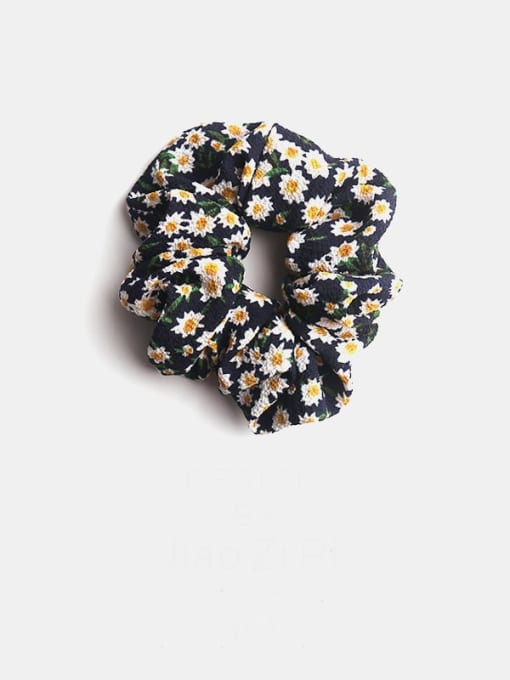 black Fabric Minimalist Flower Hair Barrette