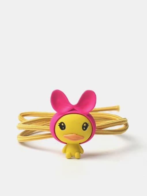 Yellow rope rose powder hair belt duck Alloy Yellow Rope Rose Powder Hair Belt Duck
