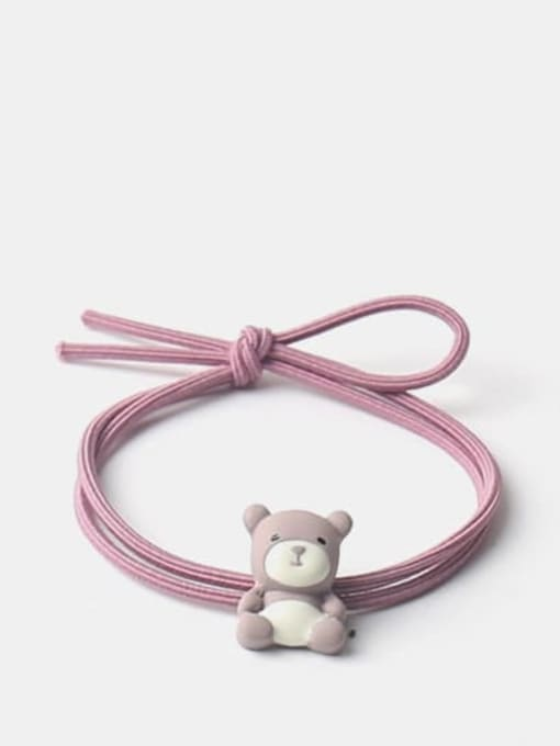 Bean paste purple Cute Icon Hair Rope